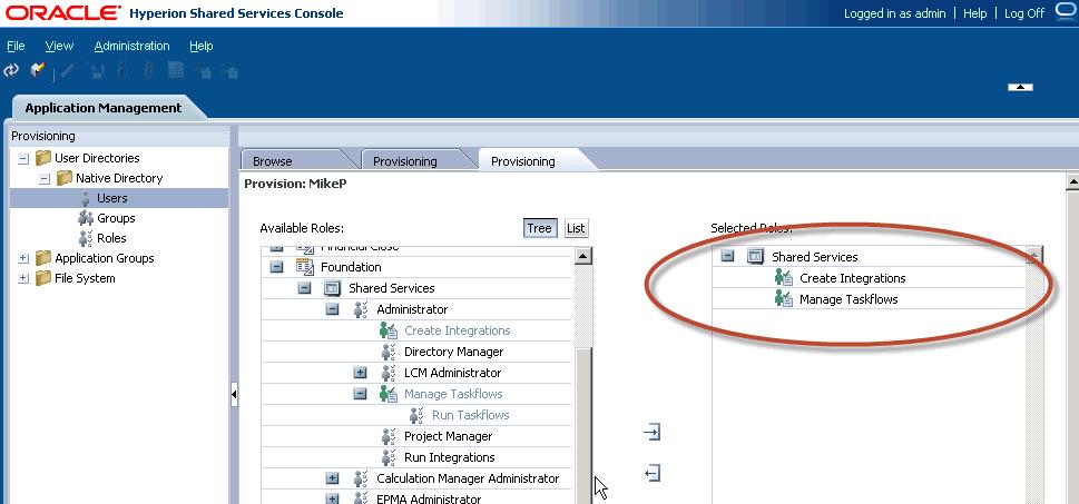 taskflow administration - Hyperion Administrator